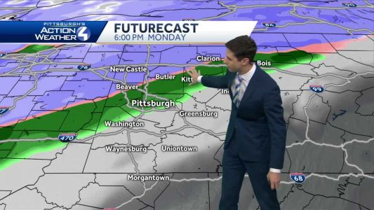 Cloudy tonight, Impact Day Monday as rain showers move in