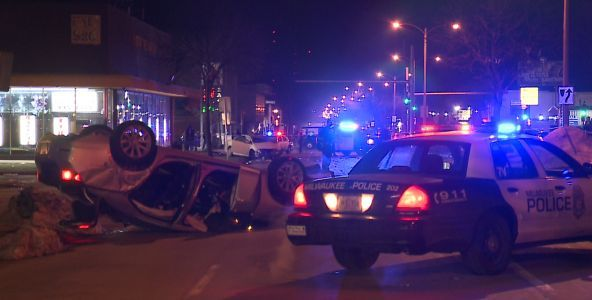 Hit and run rollover crash: 1 arrested
