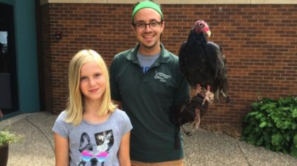 Inspired By Veteran's Eagle Rescue, Girl Raises $1K To Support Turkey Vulture At Raptor Center