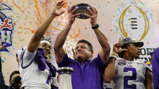 LSU's Ed Orgeron, once ridiculed over imperfections, cements 15-0 Tigers in college football lore