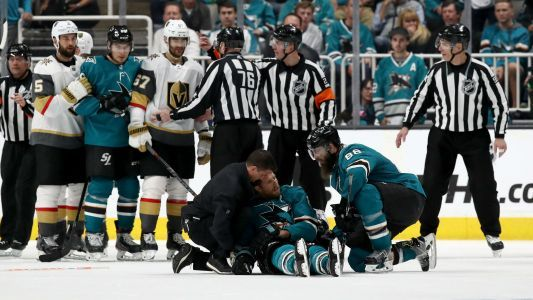 NHL playoffs 2019: Knights call key penalty 'a f-ing joke' after Game 7 OT Sharks win