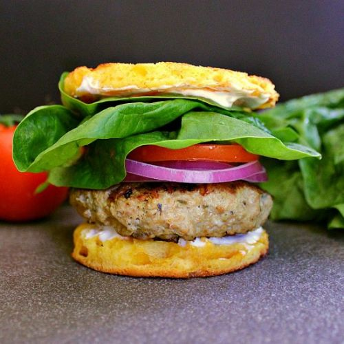 Low Carb Greek Turkey Burgers