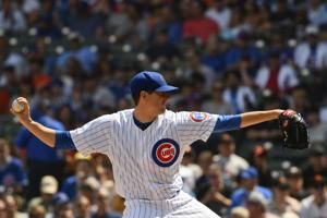 Hendricks, Cubs edge Giants 1-0 for 5th straight win