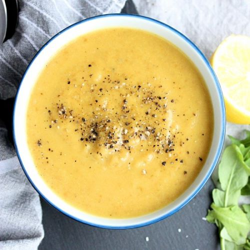 Cauliflower Lentil Lemon Soup