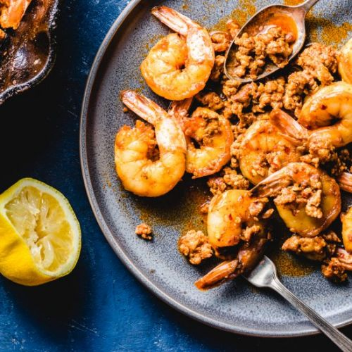 Spanish Shrimp Tapas With Chorizo