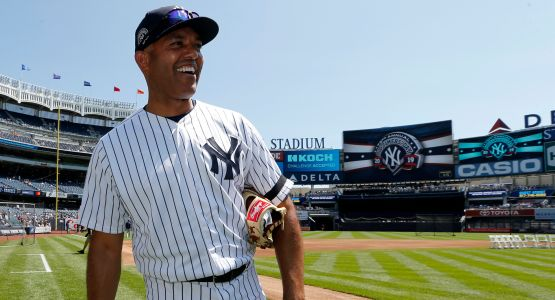 Mariano Rivera had a heckin' good time at his first Old Timers' Day