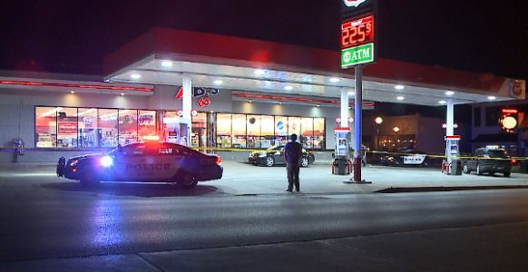Robbery investigation at Dundee gas station