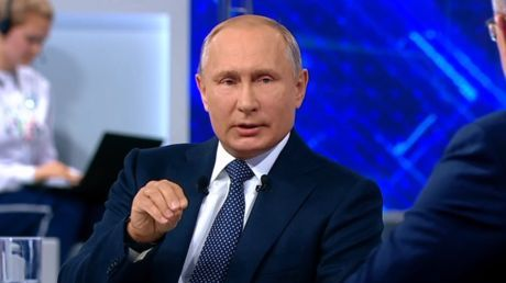 Putin holds annual Direct Line Q&A in Moscow - LIVE World Cup 2018 updates