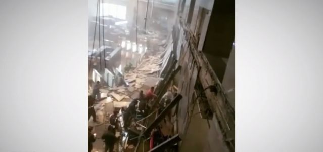 Floor collapses at Indonesia Stock Exchange, more than 50 injured
