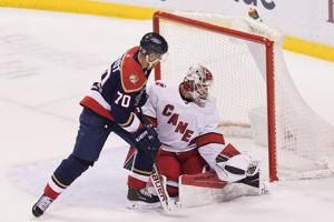 Necas' shootout goal lifts Hurricanes past Panthers 4-3