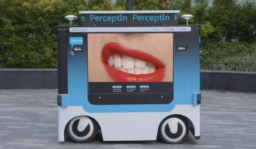 PerceptIn unleashes a driverless mobile vending machine that displays video ads