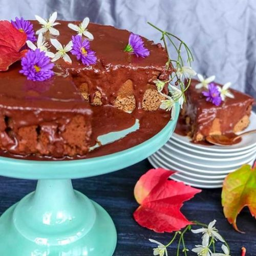 GF Chocolate Pumpkin Cake