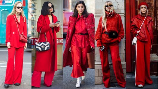 All-Red Outfits Are a Street Style Favorite at London Fashion Week