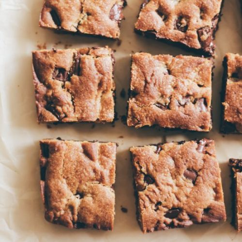Coconut Sugared Chocolate Chip Bars