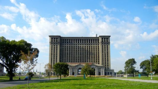Ford Is Buying Detroit's Famous Michigan Central Station, And The Blue Oval Will Adorn It