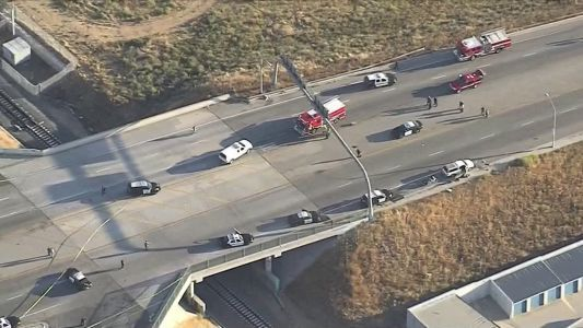 CHP officer, suspect killed after gun battle on California freeway