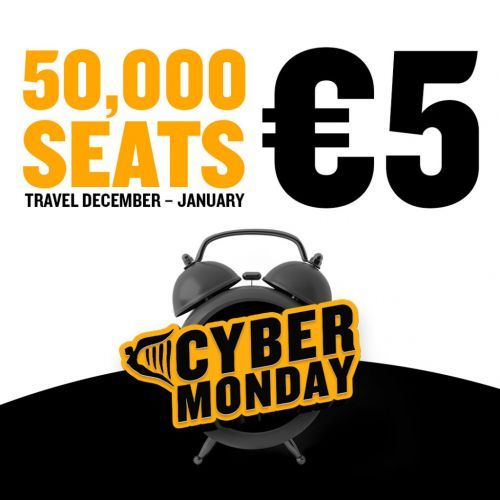 Ryanair 'Cyber Monday' Sale 50,000 Seats From Just €5