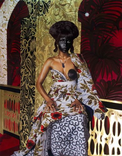 A Tribute to Contemporary West African Culture, Painted With 24-Carat Gold