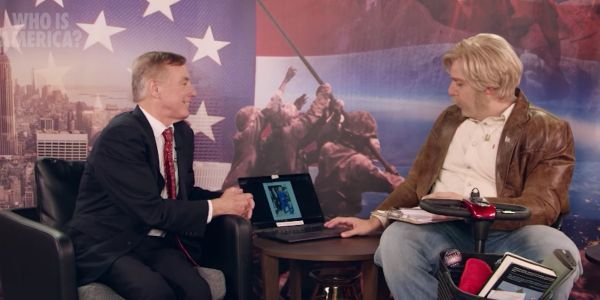 Sacha Baron Cohen tried, and failed, to convince a former presidential candidate of a conspiracy theory that Hillary Clinton is secretly a man