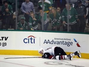 Stars control Coyotes 3-0 in Montgomery's NHL coaching debut