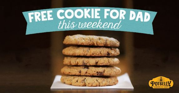 Dads Get a Free Cookie All Weekend at Potbelly Sandwich Shops Nationwide