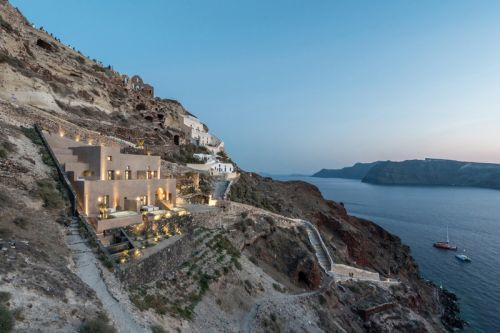 This Hotel Is Located Inside a Greek Castle