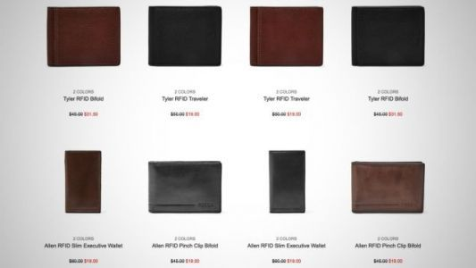 Take Your Pick of Eight Fossil Wallets For Just $19, While They Last
