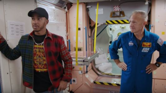 Watch F1 Champion Lewis Hamilton Bring Up the Moon Landing Hoax to Actual Astronauts