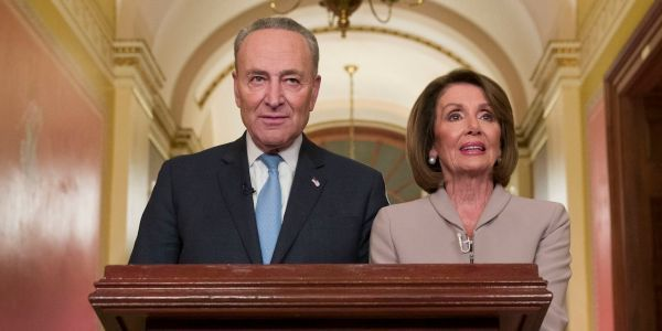 Pelosi and Schumer were turned into memes after responding to Trump's border wall speech