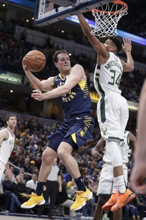 Antetokounmpo fuels Bucks late rally to charge past Pacers