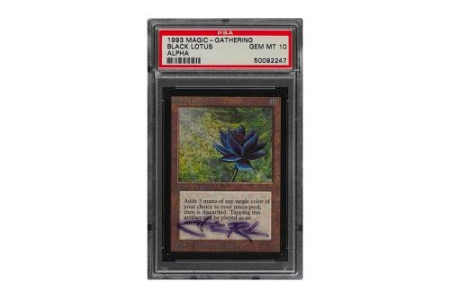 The Christopher Rush-Signed PSA 10 MTG Alpha Black Lotus Card Has Sold