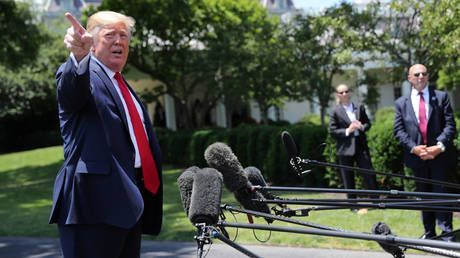Trump tells CNN reporter his conversations with Putin are 'none of her business'