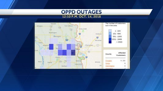 More than 10,000 OPPD customers without power during season's first snow