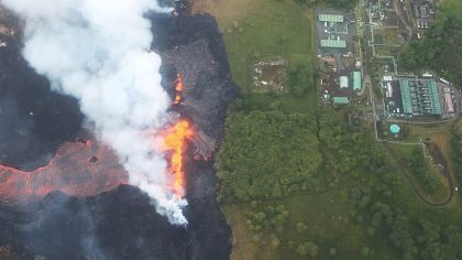 Hawaii Volcano Lava Flows Into Power Plant, Sparking Fears Of Deadly Gas Release