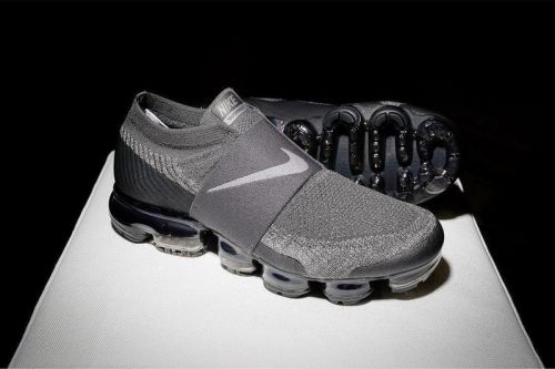 The Nike Air VaporMax Laceless Sees a Stealthy Grey and Black Colorway