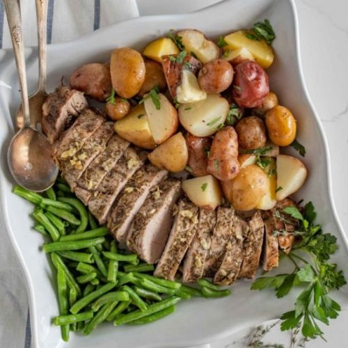 SlowCooker Pork Loin & Potatoes