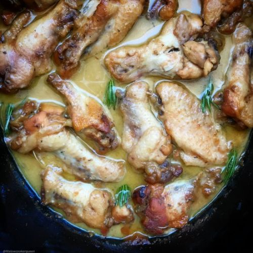 Crockpot Honey Mustard Chicken Wing