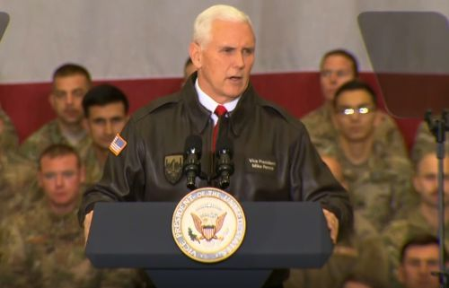 VP to troops: 'You deserve better' than shutdown