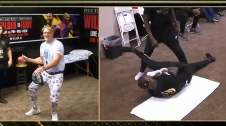 WATCH: Tyson Fury prepares for Deontay Wilder heavyweight showdown by DANCING backstage