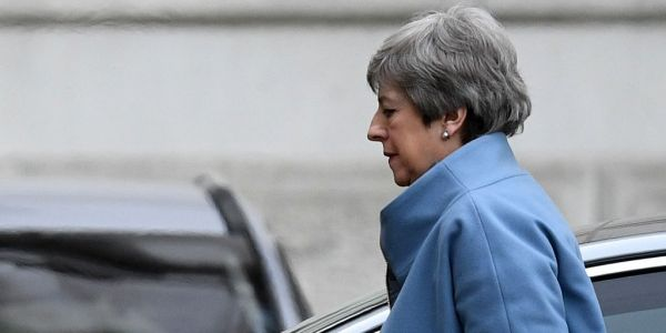 Theresa May abandons request for long Brexit delay after Cabinet revolt