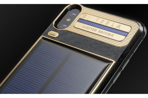 Caviar's $4,000 USD Solar-Powered iPhone X Tesla Device is Covered in Carbon & Gold