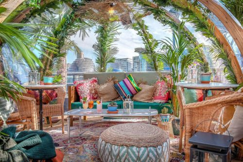 Dine in a Bubble by the Thames at Coppa Club's Mayan-Inspired