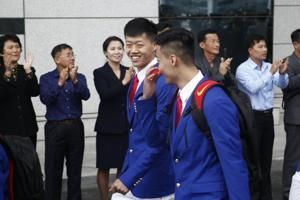 Chinese athletes visit NKorea in latest sign of thaw in ties
