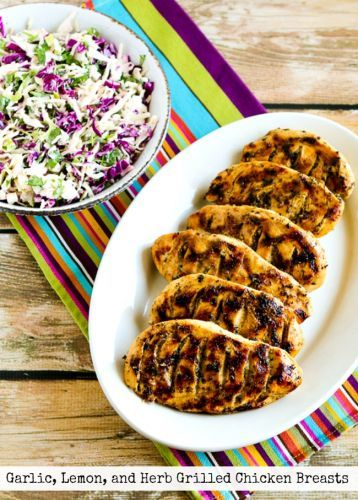 Garlic, Lemon, and Herb Grilled Chicken Breasts