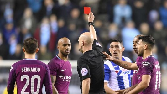 'It's a red card' - Guardiola accepts Delph sending off after Man City's FA Cup exit