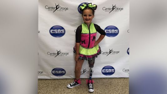 'Just keep on trying your best': 7-year-old girl winning dance competitions 1 year after losing leg