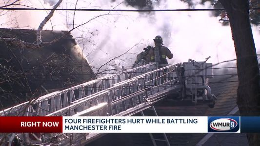 Four firefighters injured in Manchester blaze, officials say