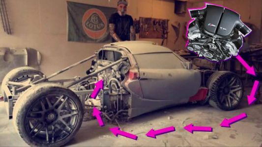 Praise All That Is Unholy:Here's A BMW V10 Swapped Into A Lotus Elise