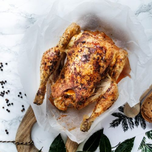 Bake a chicken in the oven