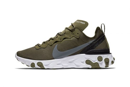 "Nike's React Element 55 Steps Out in ""Olive"""